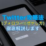Twitter攻略法(フォロワーを増やす方法)を徹底解説します。